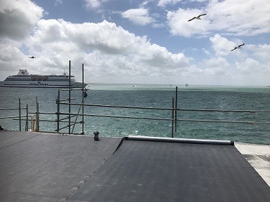 RubberBond Fleeceback EPDM Roof System installed at Southsea